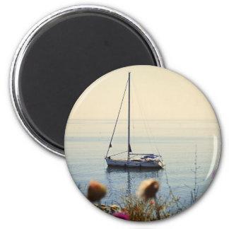 Sunset Sailing 2 Inch Round Magnet