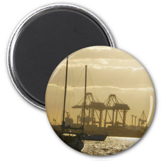 Sunset Sailing Fridge Magnet