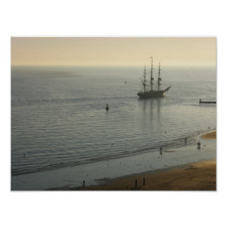 Sunset Sailing Photo Poster Print
