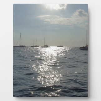 sunset sailing display plaque