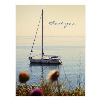 Sunset Sailing Postcard