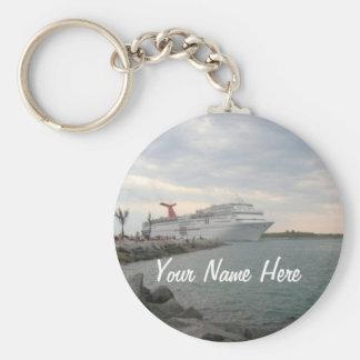 Sunset Sailing Pretty Personalized Basic Round Button Keychain