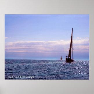 Sunset Sailing Print