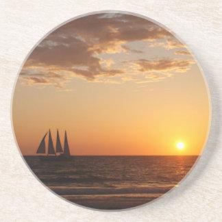 Sunset Sails Drink Coaster