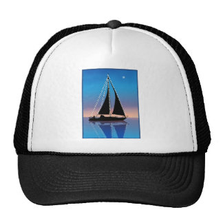 Sunset Sails with Holiday Lights Mesh Hats