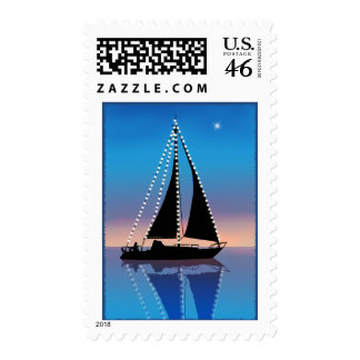Sunset Sails with Holiday Lights Stamp