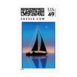 Sunset Sails with Holiday Lights Stamps