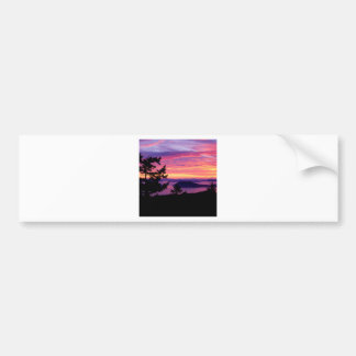 Sunset San Juan Islands At Puget Sound Bumper Sticker