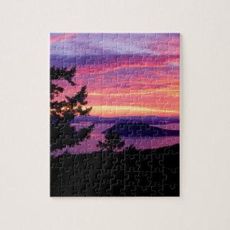 Sunset San Juan Islands At Puget Sound Puzzles