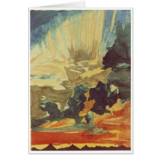 sunset & sandstorm greeting card