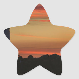 Sunset Santa Cruz Lighthouse Star Sticker
