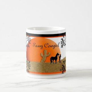 sunset, Sassy Cowgirl Morphing Mug