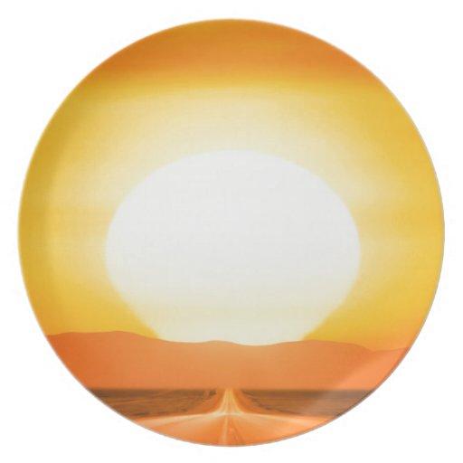 Sunset Savage Plate