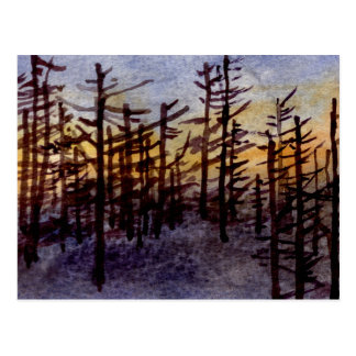 """""""Sunset Scags"""" Country Roads Postcard"""