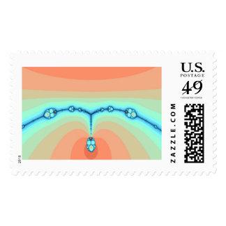 Sunset Scarab Necklace Fractal Postage Stamp
