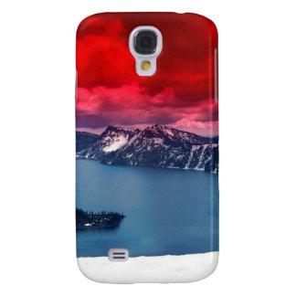 Sunset Scarlet Skies Crater Lake HTC Vivid Cases
