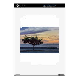 Sunset Scene at Boardwalk in Montevideo Uruguay Decals For iPad 2