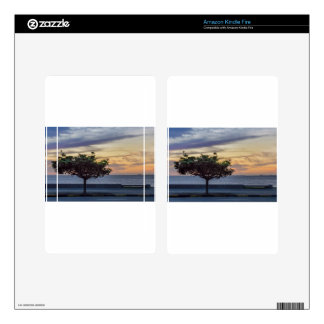 Sunset Scene at Boardwalk in Montevideo Uruguay Decals For Kindle Fire