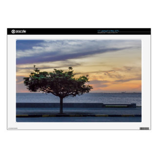 Sunset Scene at Boardwalk in Montevideo Uruguay Laptop Skins