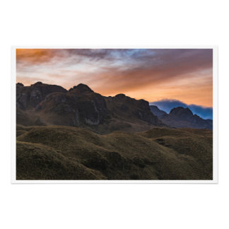 Sunset Scene at Cajas National Park in Cuenca Ecua Photo Print
