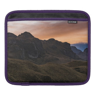 Sunset Scene at Cajas National Park in Cuenca Ecua Sleeve For iPads