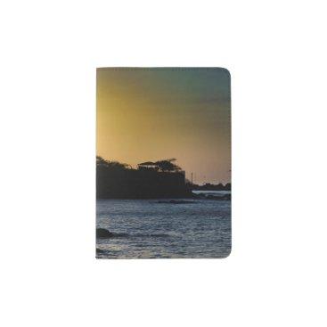 Beach Themed Sunset Scene at La Libertad Malecon Passport Holder