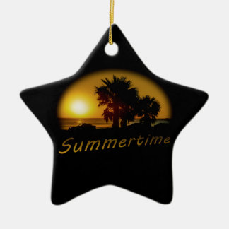 Sunset Scene at the Coast of Montevideo Uruguay Ceramic Ornament