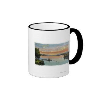 Sunset Scene on the Lake Ringer Coffee Mug