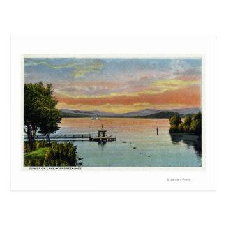 Sunset Scene on the Lake Postcard