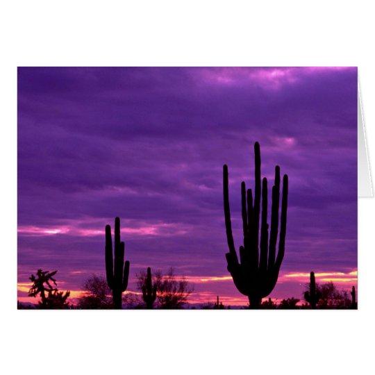 Sunset, Scottsdale, Arizona Card