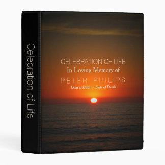 Sunset Sea Celebration of Life Guest Book Mini B Mini Binder