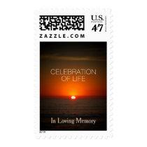 Sunset Sea Celebration of Life Postage