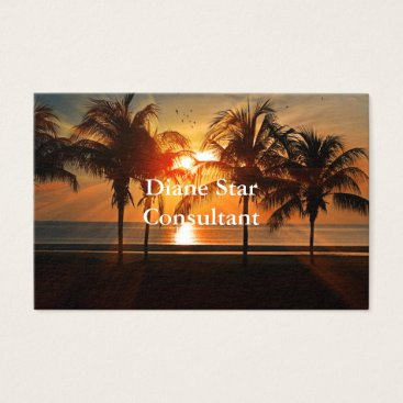 Beach Themed Sunset Sea Design Business Card