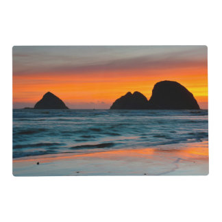 Sunset, Sea Stacks, Oceanside, Oregon, USA Placemat