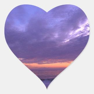 Sunset Seabright Santa Cruz California Heart Sticker