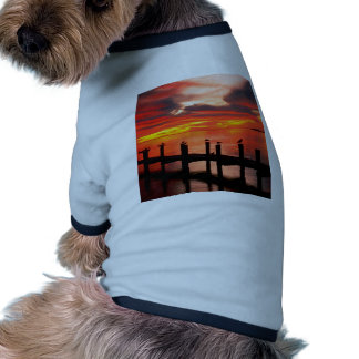 Sunset Seagulls At Fort Myers Florida Doggie Tshirt