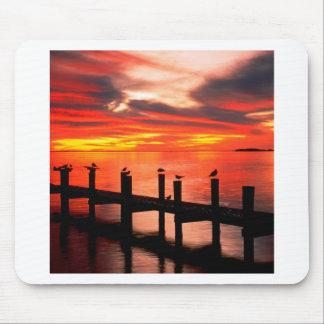 Sunset Seagulls At Fort Myers Florida Mousepads