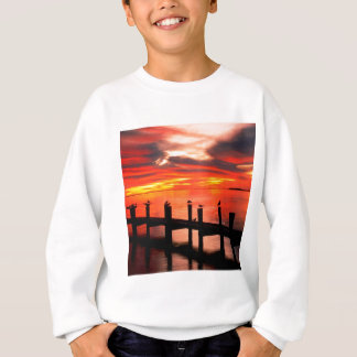 Sunset Seagulls At Fort Myers Florida Sweatshirt