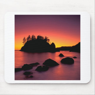 Sunset Seastacks Silhouetted Trinidad Mouse Pad