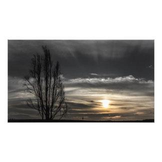 Sunset Seen Between the clouds print. Photo Print
