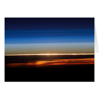 Sunset Seen From The International Space Station Card