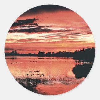 Sunset, Seney National Wildlife Refuge Sticker