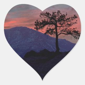 Sunset Sentinel Heart Sticker