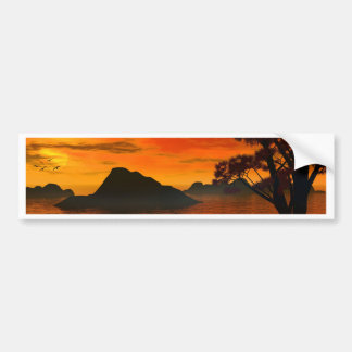 sunset serenade bumper sticker