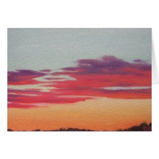 Sunset Series - Winter 08-09 #8 Greeting Card