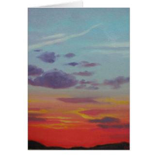 Sunset Series - Winter 08-09 Greeting Card