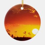 Sunset Setting Swampland Everglades Florida Ornament