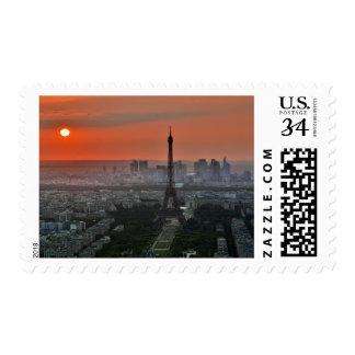 Sunset Shake the Eiffel -baris Postage