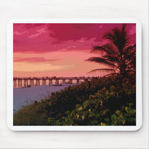 sunset shock mouse pad