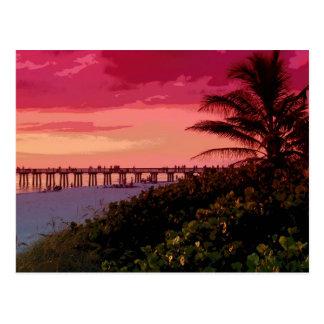 sunset shock postcard